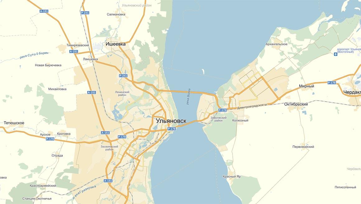 Перевозки в Ульяновск – схема